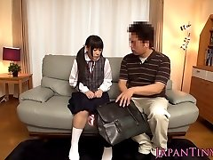 Tiny japan schoolgirl stimulated with toys before anal fuck