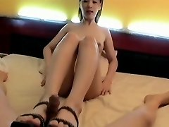 Korean Hotty foot insert. Engulf & Fuck, Face cum