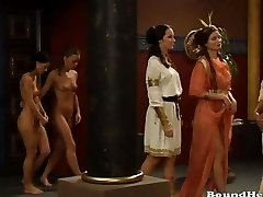 Mistress Orders Massive Orgy For Lezzie Girls