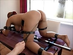 chubby redhead Video17 floor pillory 3rd flagellating, clamps