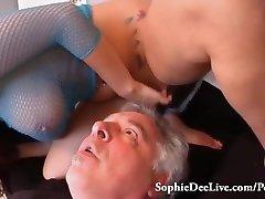 Lick Mistress Sophie Dee's Wet Fuckbox Slave!