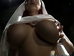 Ginormous tits promiscuous nun scolds sinner