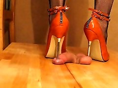 High Heel Beefstick and Ball trample Orange Metal