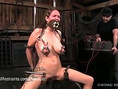 Rain DeGrey Gets Electric Torment in Bondage
