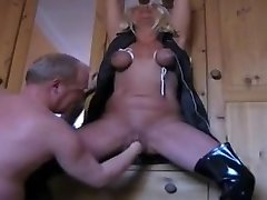 mature wife tormented and splashing
