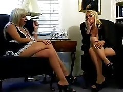 Insane fetish lesbian maid with mistress