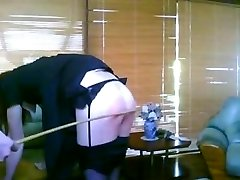 Beautiful Mistres  caning her sissy-maid 3