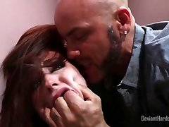 Rough sex with ginger-haired in public bathroom