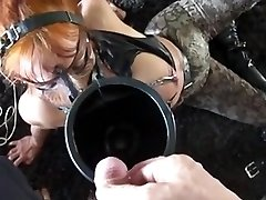 Slave Mom used as urinal