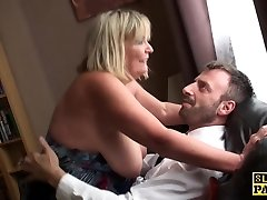 Big british bdsm broad busts during fucking