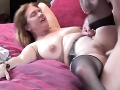 Rough sex with a huge-chested mummy's wet cunt