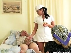 Nubile Nurse Gets a Flash