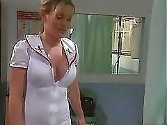 Super-naughty blonde Nurse pokes her patient...F70