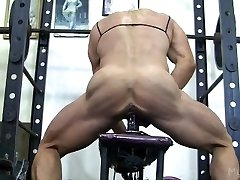 Bulky Lacey Plow A Gym Dildo