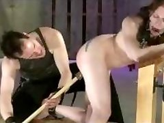 Tattooed Submissive Flogged Paddled And Toyed