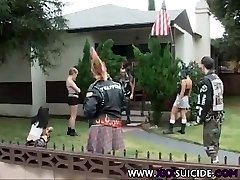 XXXSuicide Punk and Punk Rock honeys taking cock in all holes