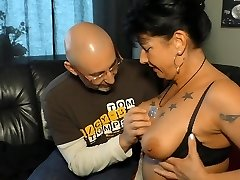 XXX OMAS - allemand brunette mamie Jenny K. il aime rugueuse