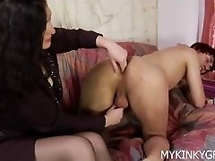 Dominating girl porks his ass