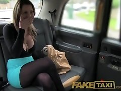 FakeTaxi Stunning golden-haired with huge tits