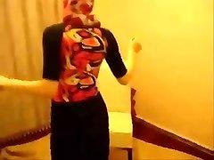 Seksikas Hijab Araabia Egiptuse Tüdruk On Perses töötlemata