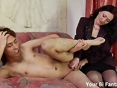Arch over and let Mommy give you a prostate massage