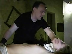 Failing To Obey slave whipped grin after bondage creepy punishment