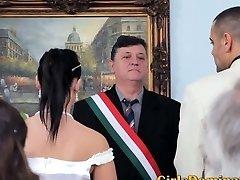 Bride gets A Nasty Rough Ravaging