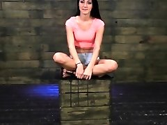 Brutal dominance with teen bound and gagged