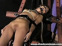 Sahara Knite abasing face bondage and spanked