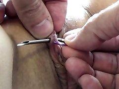 Extreme Iglo Mučenja BDSM in Electrosex Nohti in Igle