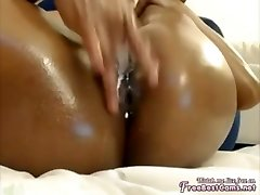 Arab Muslim Ebony Wanks To Extreme Squirting Climax