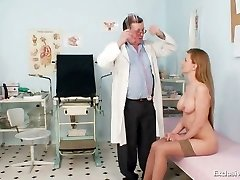 Viktorie furry pussy gynecology gaping exam at clinic