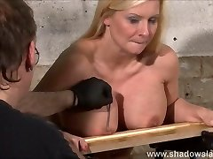 Bap nailing kink of busty Melanie Moon in gash pain