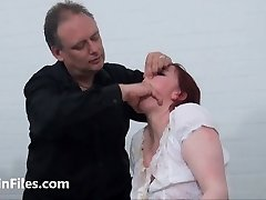 Bizarre slapping and messy humiliation of obedient Isabel De