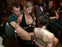 Young Sensi Pearl gets corded up and pounded in public
