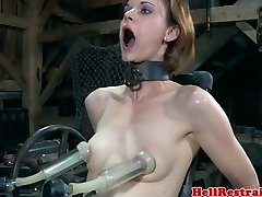 BONDAGE & DISCIPLINE bondage sub humped by machine