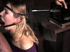 Mona Wales facefucked while corded to sybian saddle