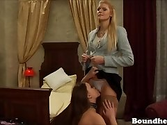 These two blonde marionettes enjoy pleasing their sir all nigh