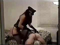 Insane geezer slave gets punished in the ass by her dominatrix