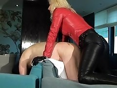 Leather Mistress with strapon