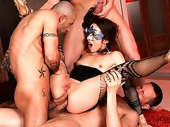 Norma Jane, Mike Angelo, Markus Dupree, Yanick Shaft in Rocco's Ideal Slaves #08, Gig #01
