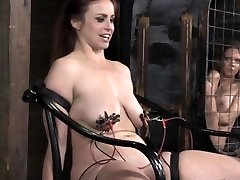 BDSM sub receives brutal shock treatment