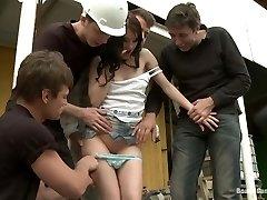 सही तस्वीर छोटे रूसी लड़की समलिंगी स्त्रियां एक पर दो गांड