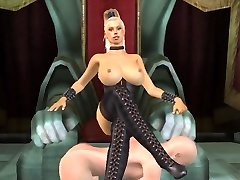 Tall busty blond dominatrix animerad av tallmistresslover