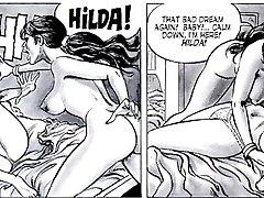 Erotično Seksualne Fetiš Fantazije Stripi