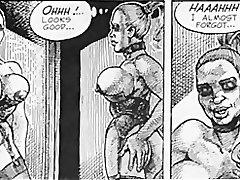 Lielām krūtīm sieviete alkst pēc sāpīga anālais sekss