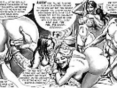 Šedevrs Verdzība Seksa Orģija Komiksu