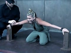 Petite bodied Sasha Heart tormented and plaything poked in BDSM clip
