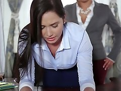 TeenCurves - Keisha Grey Pounds Submissive Assistant Karlee Grey