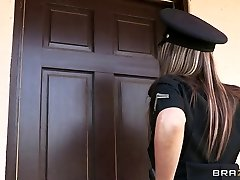 Brazzers - Big-knocker cop Courtney Cummz is fucked & penalized